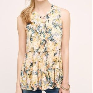 Anthropologie | Floreat Anafa Tiered Tank (sz 6)